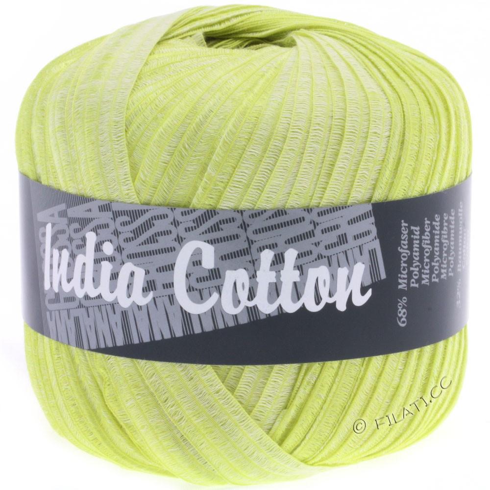 Lana Grossa INDIA Cotton Uni/Print | 208-vert jaune