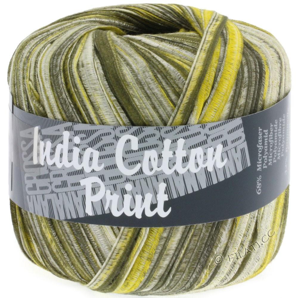 Lana Grossa INDIA Cotton Uni/Print | 302-olive/jaune/nature