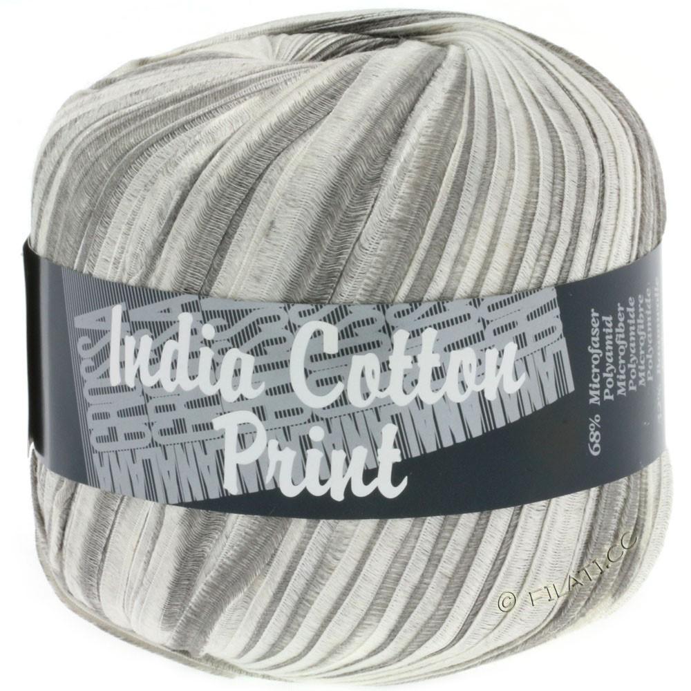 Lana Grossa INDIA Cotton Uni/Print | 306-gris/gris clair/blanc