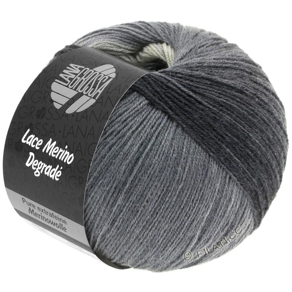 Lana Grossa LACE Merino Degradé | 408-gris clair/gris moyen/gris foncé/anthracite