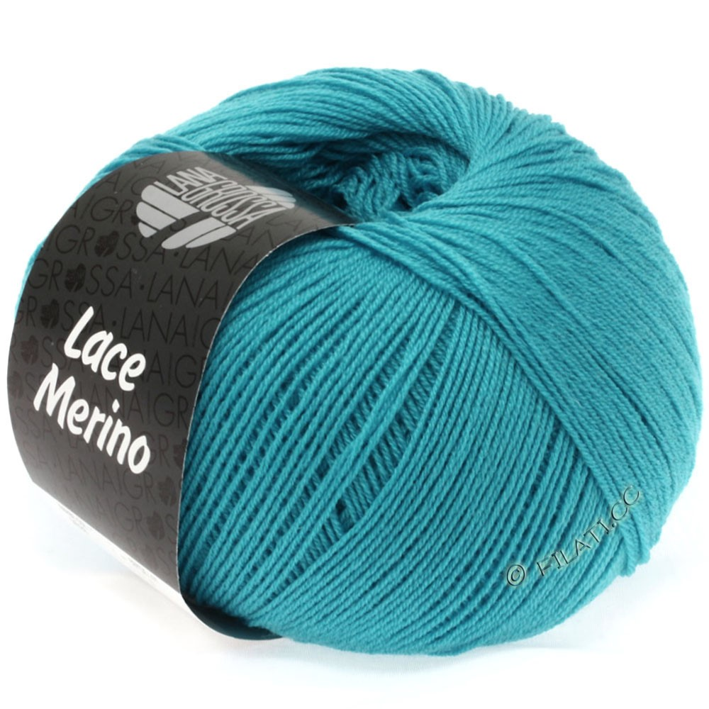 Lana Grossa LACE Merino  Uni   15-bleu turquoise