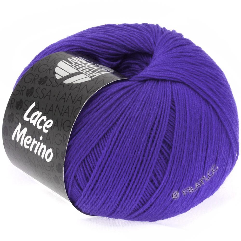 Lana Grossa LACE Merino  Uni   27-violet bleu