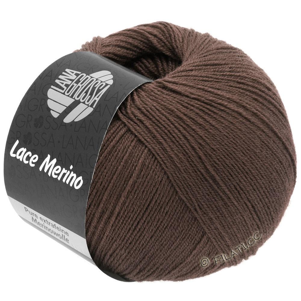 Lana Grossa LACE Merino  Uni | 63-brun chocolat