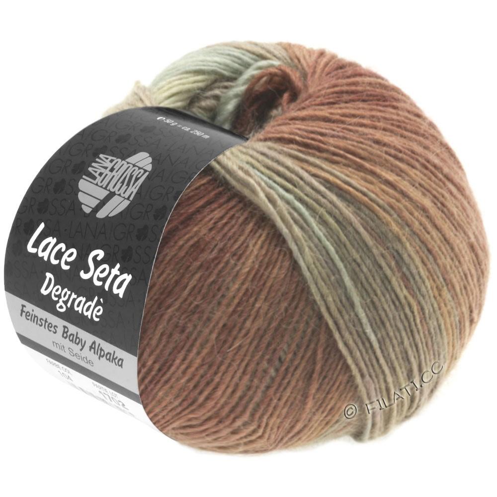 Lana Grossa LACE Seta Degradé | 115-gris vert/taupe/nougat/brun chocolat