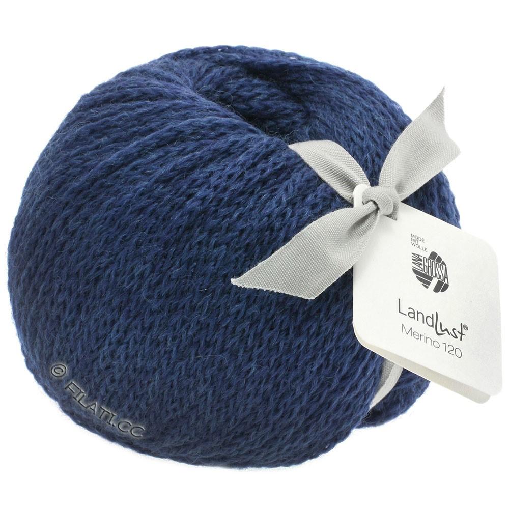 Lana Grossa LANDLUST MERINO 120 | 108-bleu foncé