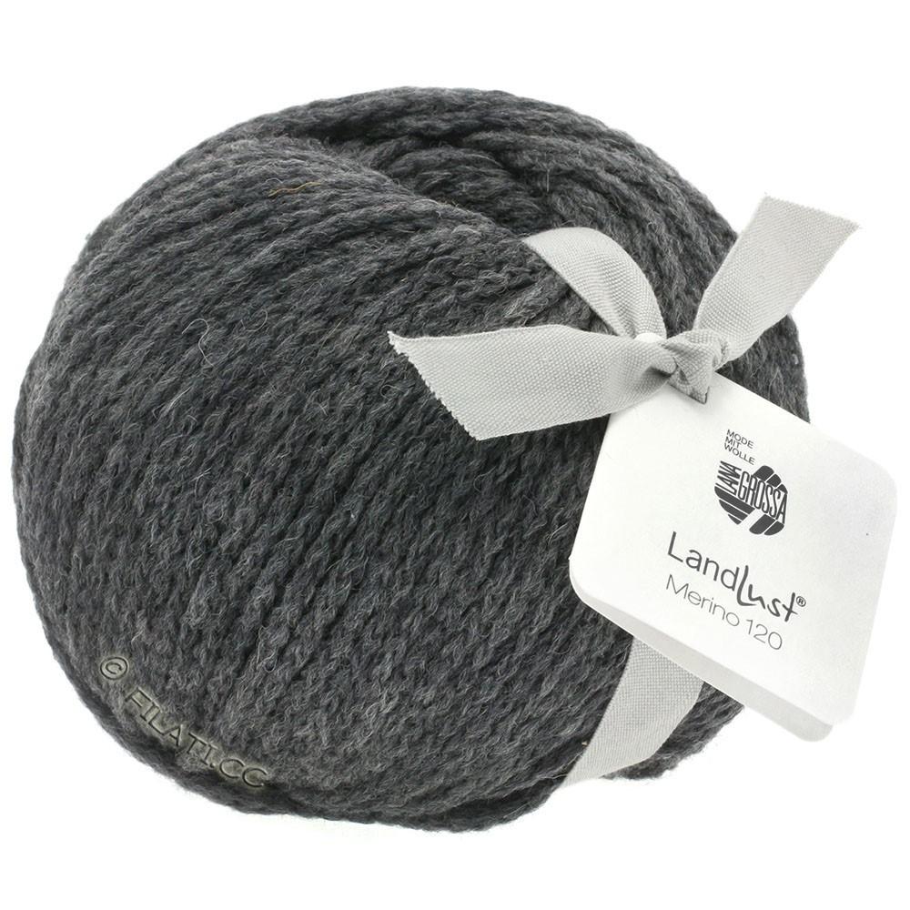Lana Grossa LANDLUST MERINO 120 | 119-gris foncé