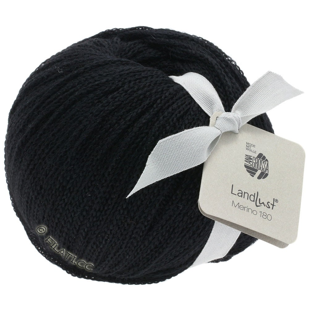 Lana Grossa LANDLUST MERINO 180 | 210-noir