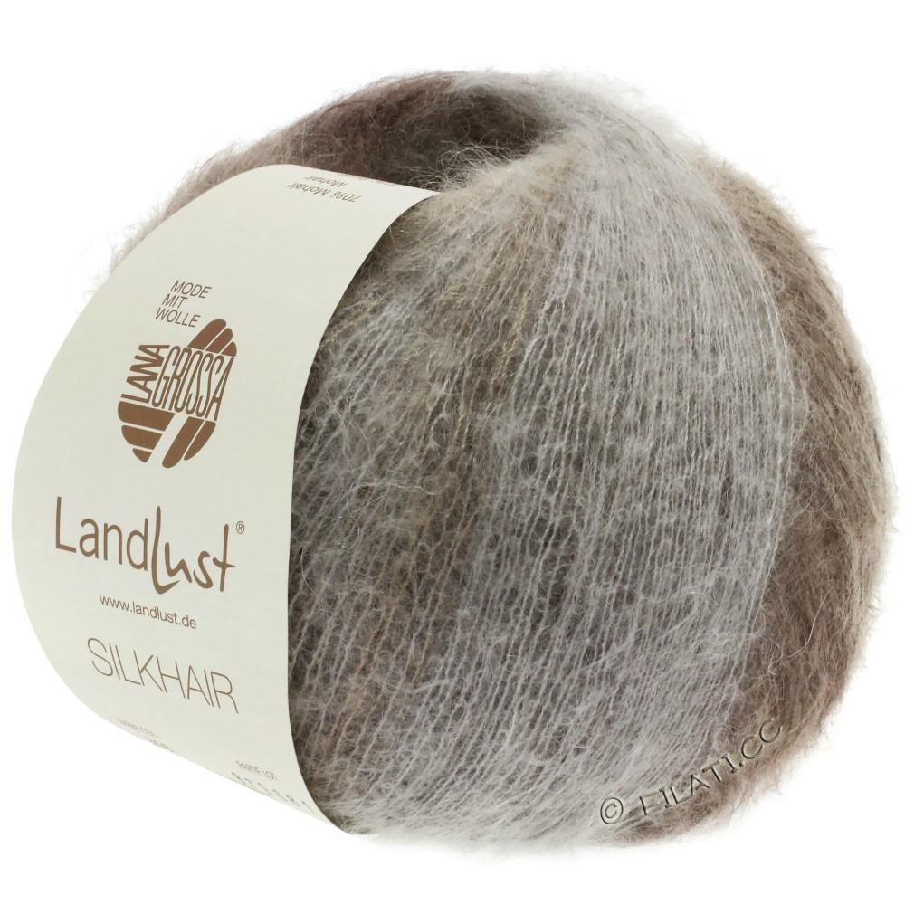 Lana Grossa LANDLUST SILKHAIR | 359-grège/gris brun/taupe/brun foncé