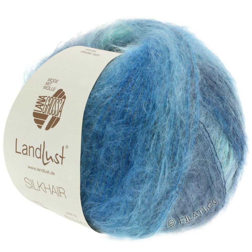 Lana Grossa LANDLUST SILKHAIR | 360-bleu clair/turquoise/bleu fumé/bleu pétrole