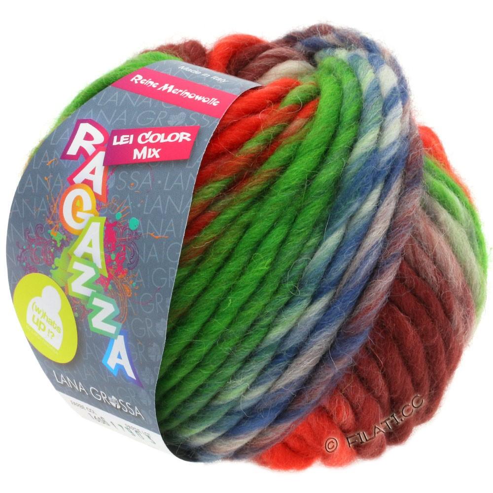 Lana Grossa LEI Mouliné/Color Mix/Spray (Ragazza) | 165-corail/vert/brun/terre cuite/jean