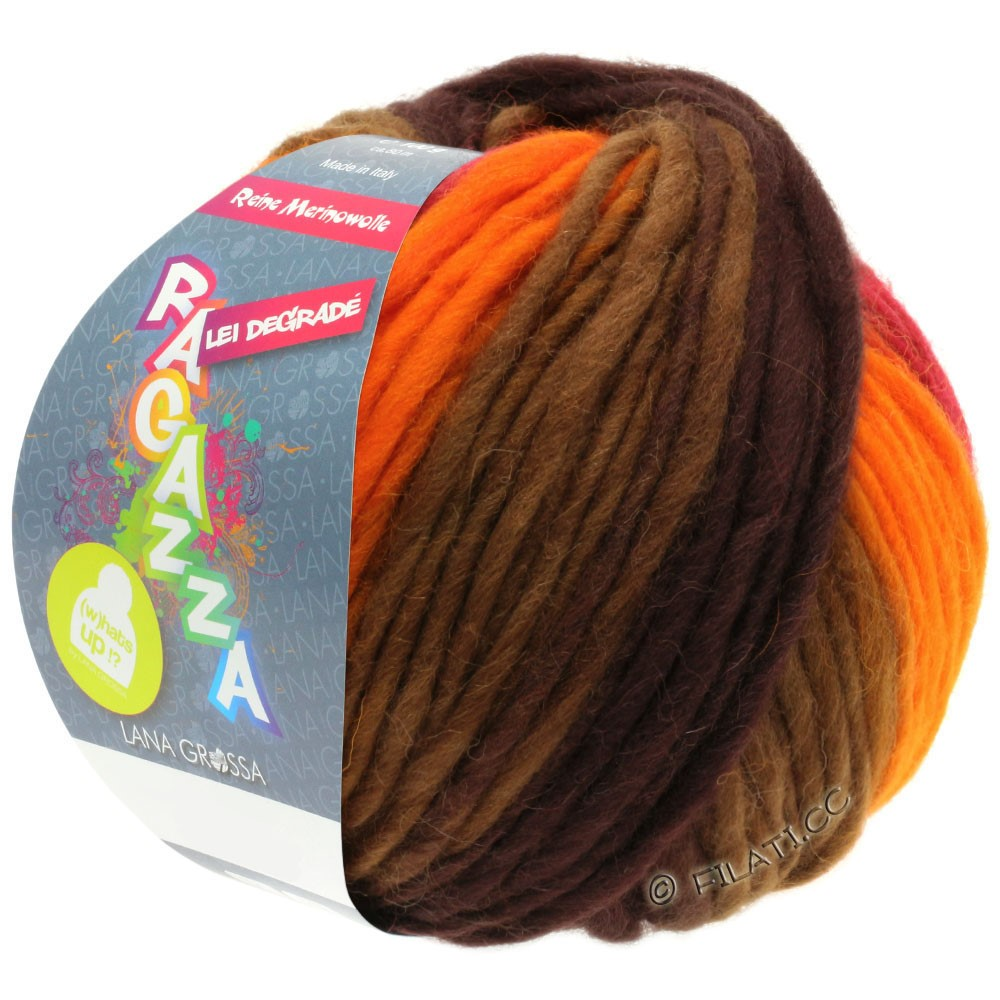 Lana Grossa LEI Degradé (Ragazza) | 506-orange/rouge/brun