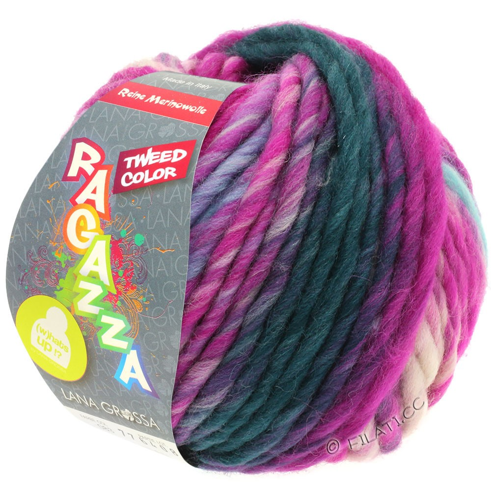 Lana Grossa LEI Tweed Color (Ragazza) | 401-bleu clair/gris clair/jean/cyclamen chiné