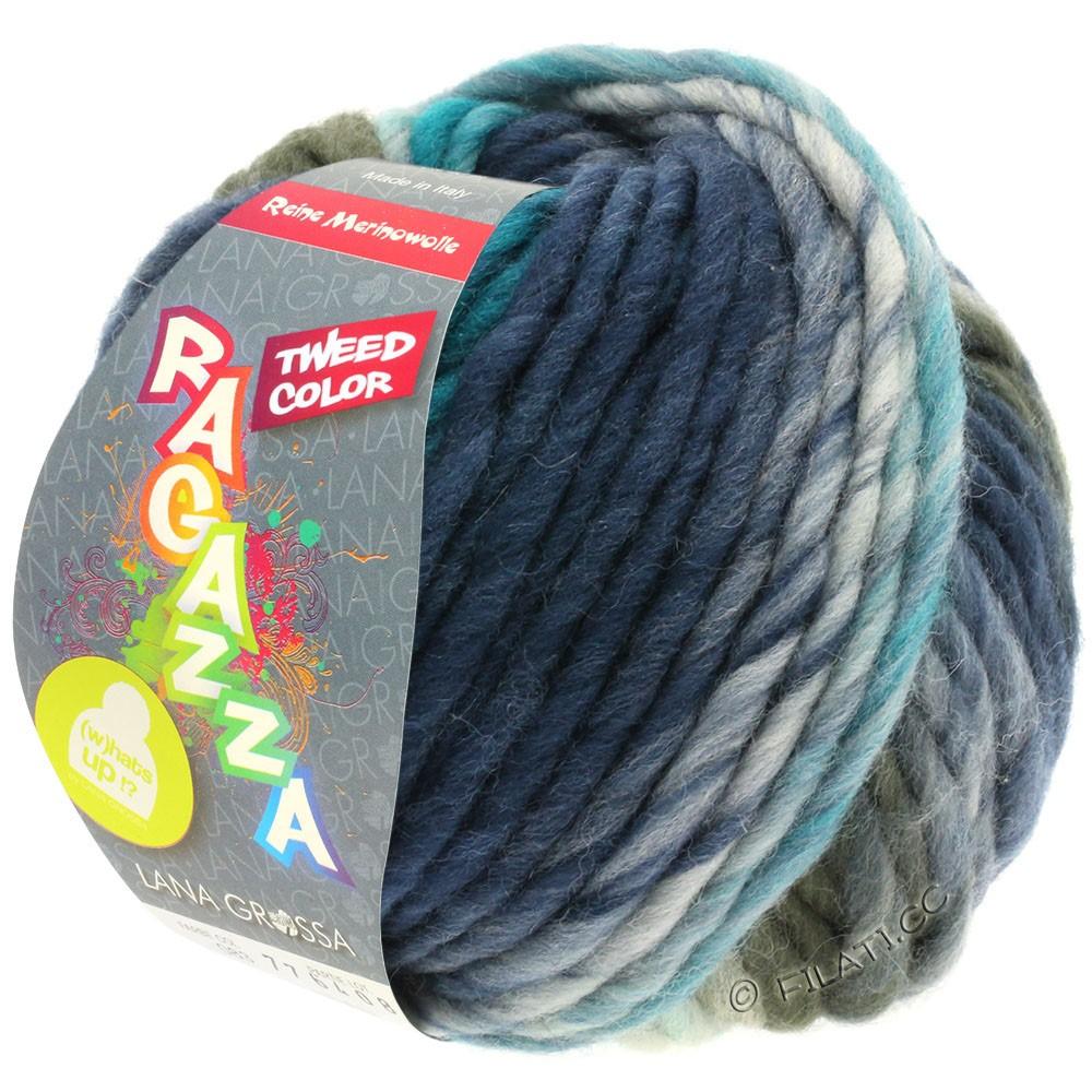Lana Grossa LEI Tweed Color (Ragazza) | 403-bleu clair/gris bleu/bleu foncé chiné