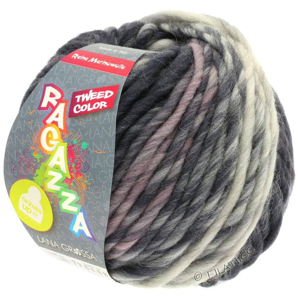 Lana Grossa LEI Tweed Color (Ragazza) | 405-gris clair/gris moyen/gris foncé chiné