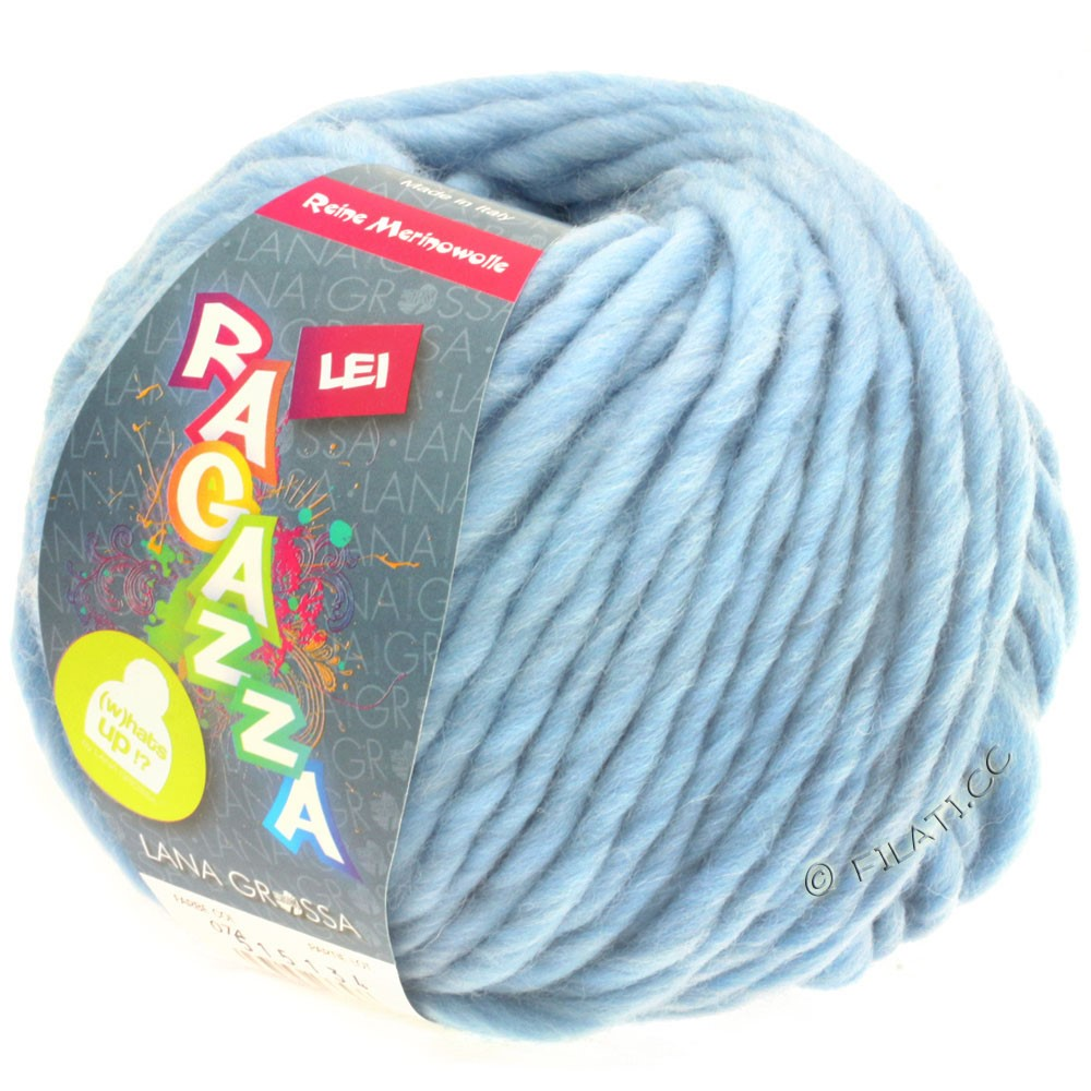 Lana Grossa LEI  Uni/Neon (Ragazza) | 074-bleu clair