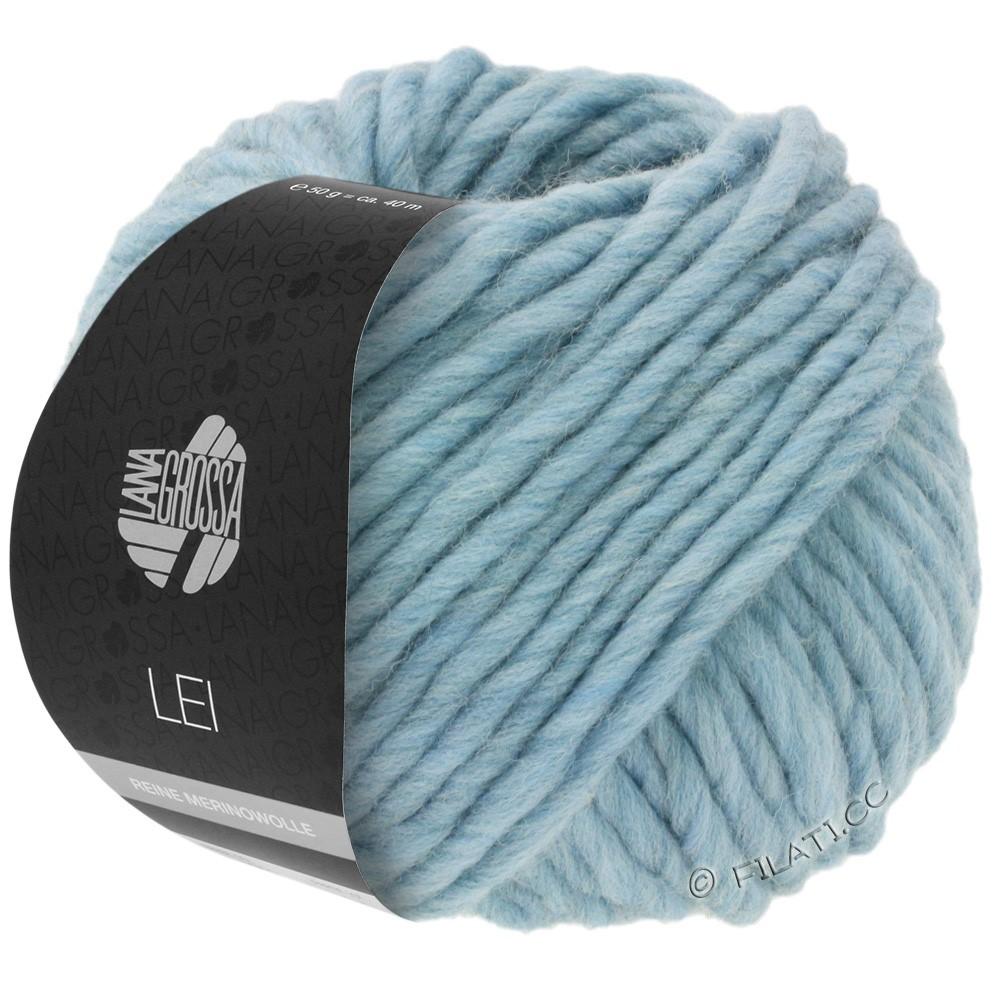 Lana Grossa LEI  Uni/Neon (Ragazza) | 084-bleu clair/gris