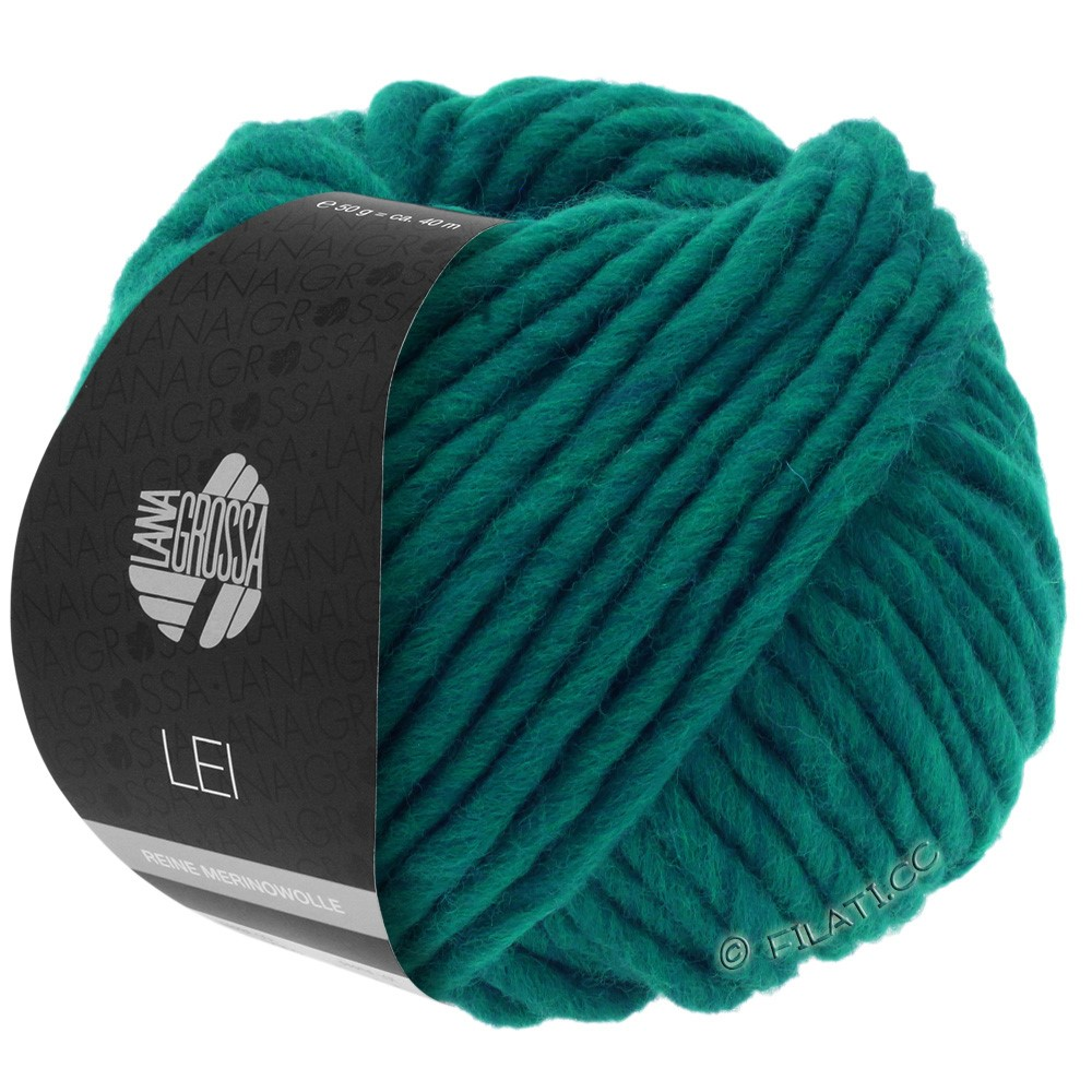 Lana Grossa LEI  Uni/Neon (Ragazza) | 087-vert bleu