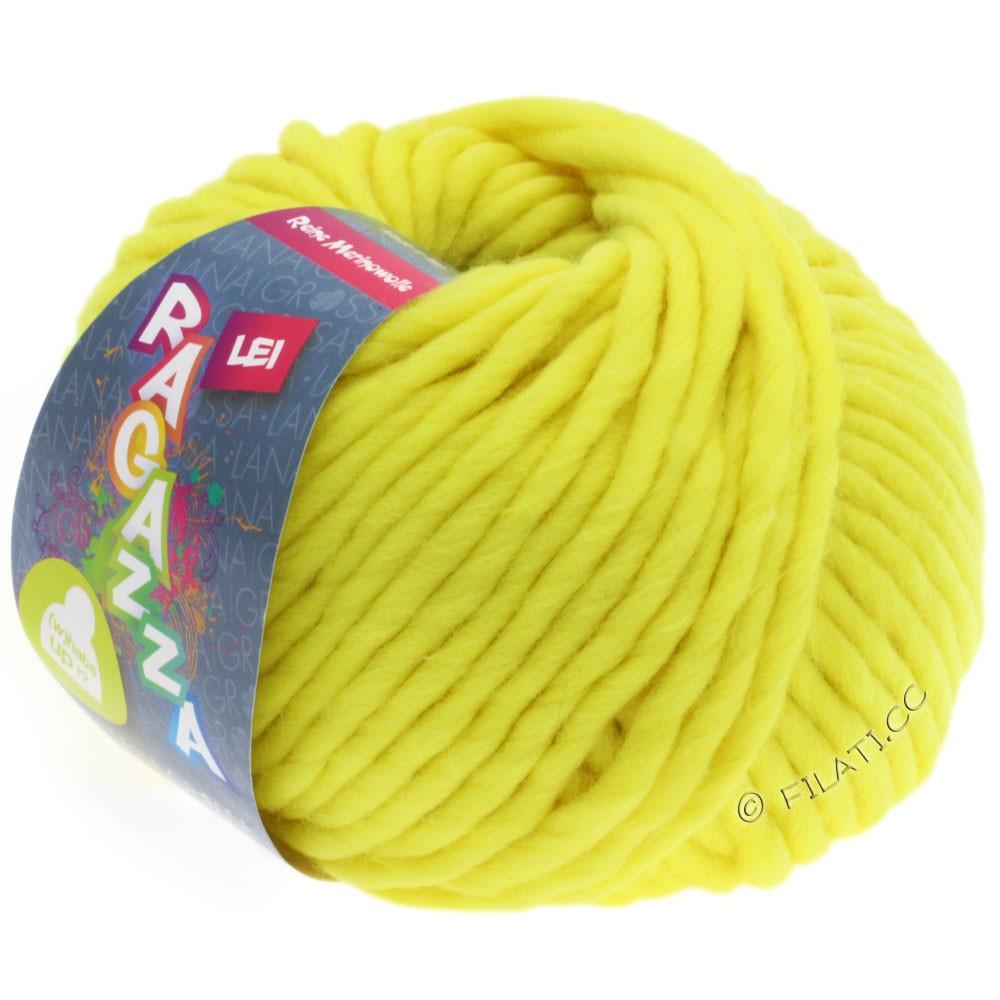 Lana Grossa LEI  Uni/Neon (Ragazza) | 501-jaune néon