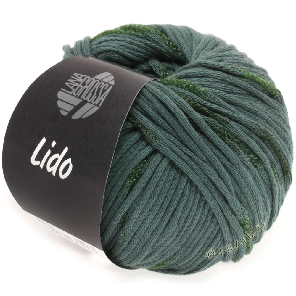 Lana Grossa LIDO | 09-gris vert/vert foncé