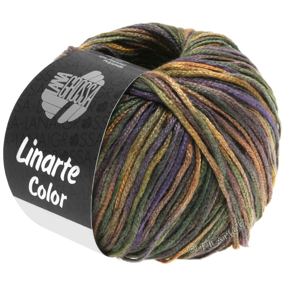 Lana Grossa LINARTE Color | 104-vert noir/brun/ardoise