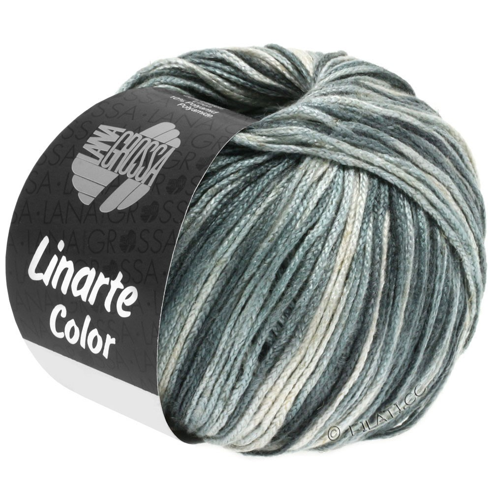 Lana Grossa LINARTE Color | 105-gris argent/gris platine/gris granite