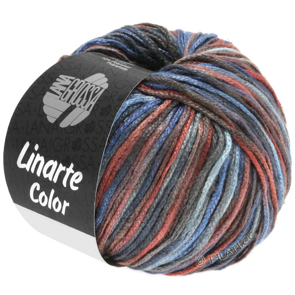 Lana Grossa LINARTE Color | 106-gris bleu/brun châtaigne/gris foncé