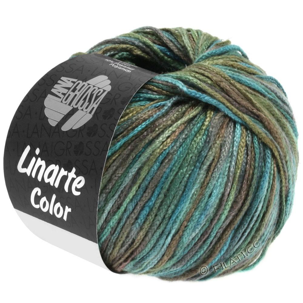 Lana Grossa LINARTE Color | 107-turquoise/olive/pétrole/kaki