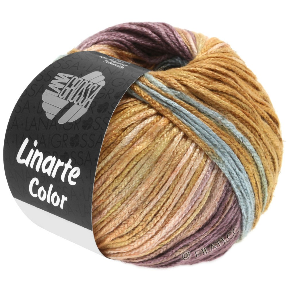 Lana Grossa LINARTE Color | 201-turquoise menthe/rouge beige/violette antique/brun ocre