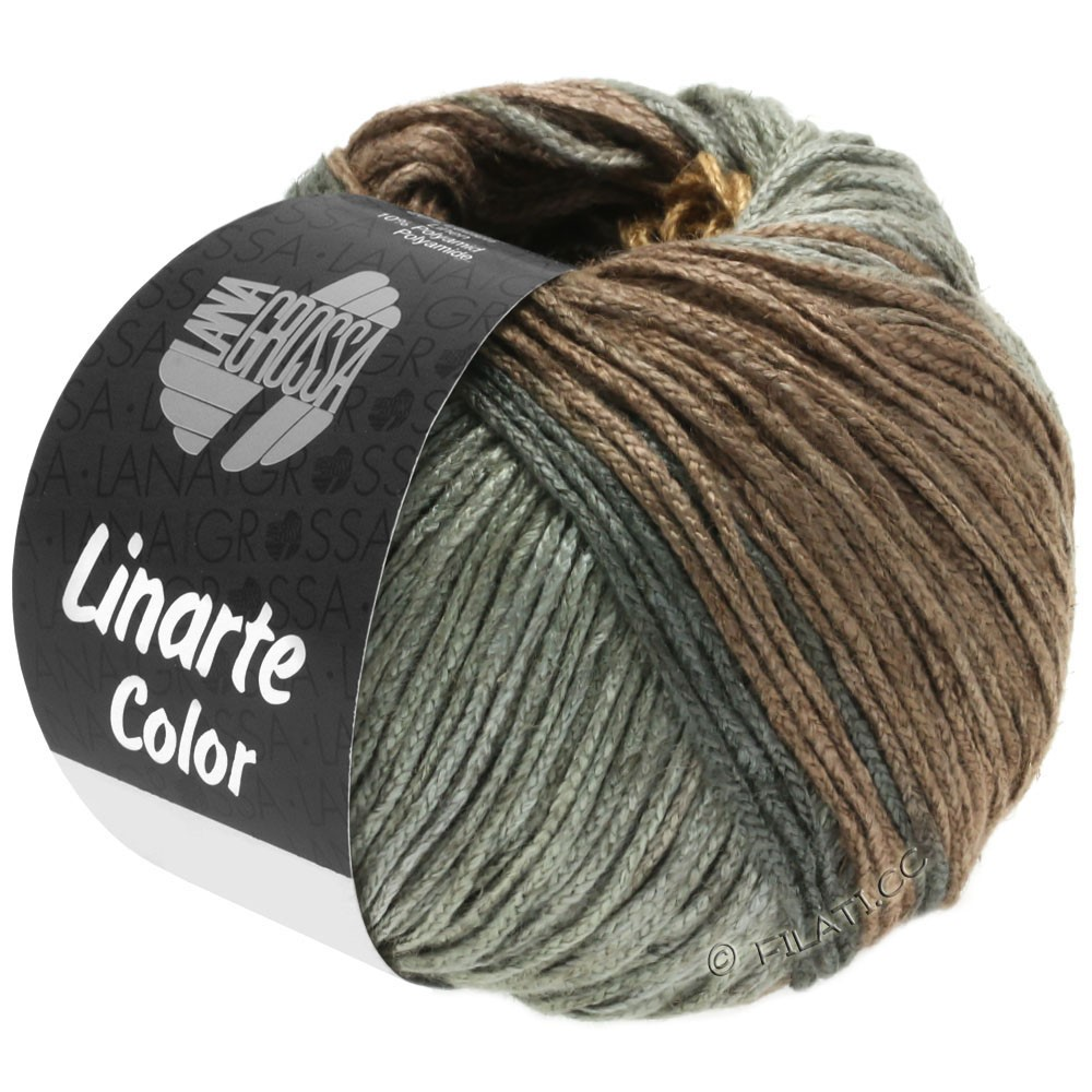 Lana Grossa LINARTE Color | 202-brun olive/brun acajou/gris terre d'ombre/gris graphite