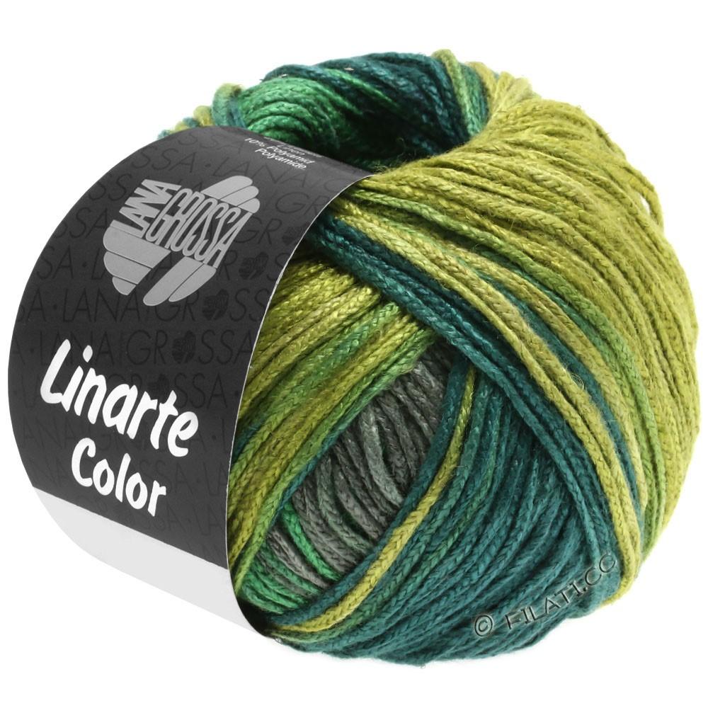 Lana Grossa LINARTE Color | 205-vert jonc/vert mousse/vert turquoise/gris graphite