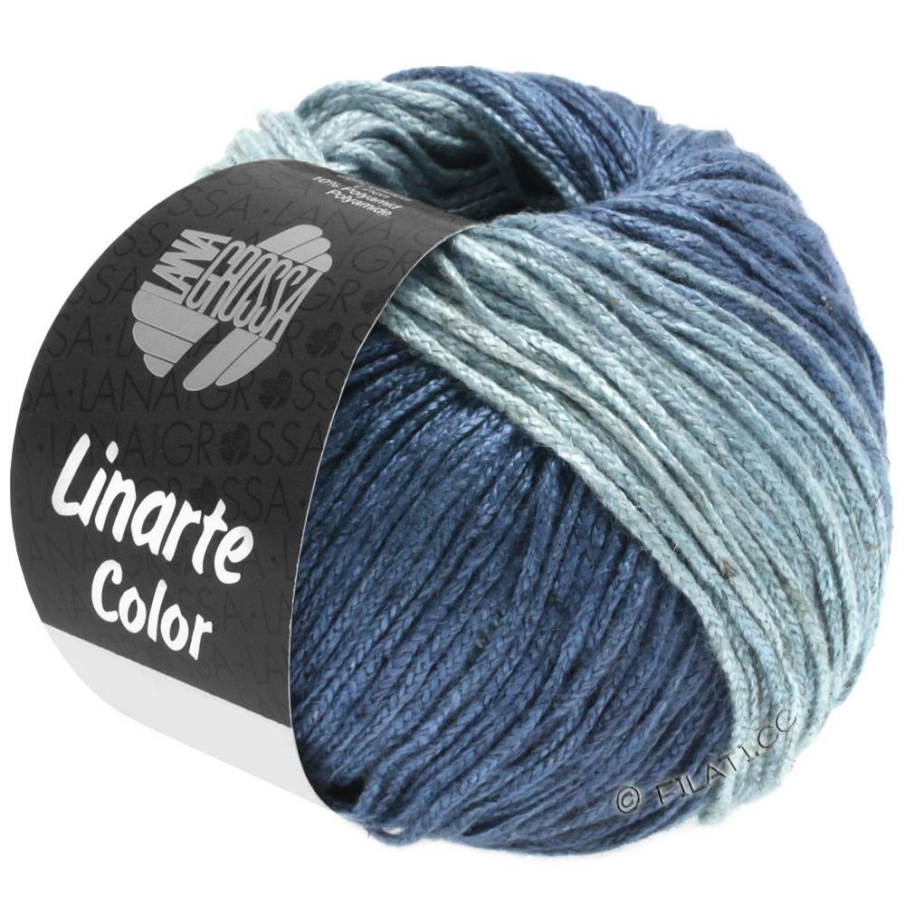 Lana Grossa LINARTE Color | 206-bleu pigeon/gris bleu/bleu océan/jean