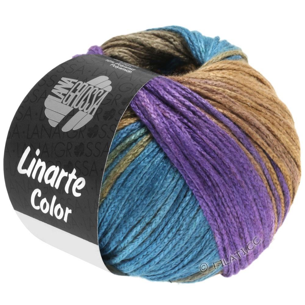 Lana Grossa LINARTE Color | 208-violet/pétrole/kaki/jaune sable