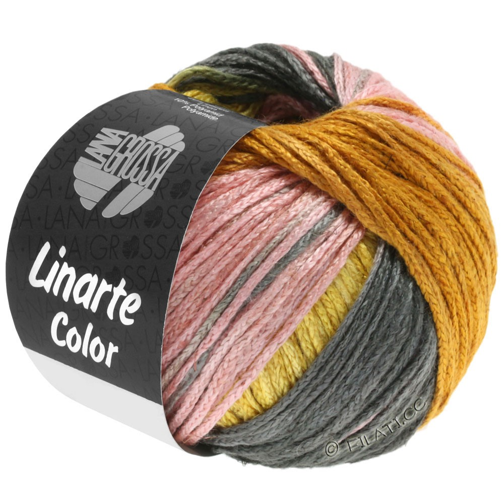 Lana Grossa LINARTE Color | 210-jaune genêt/doré/pêche/kaki