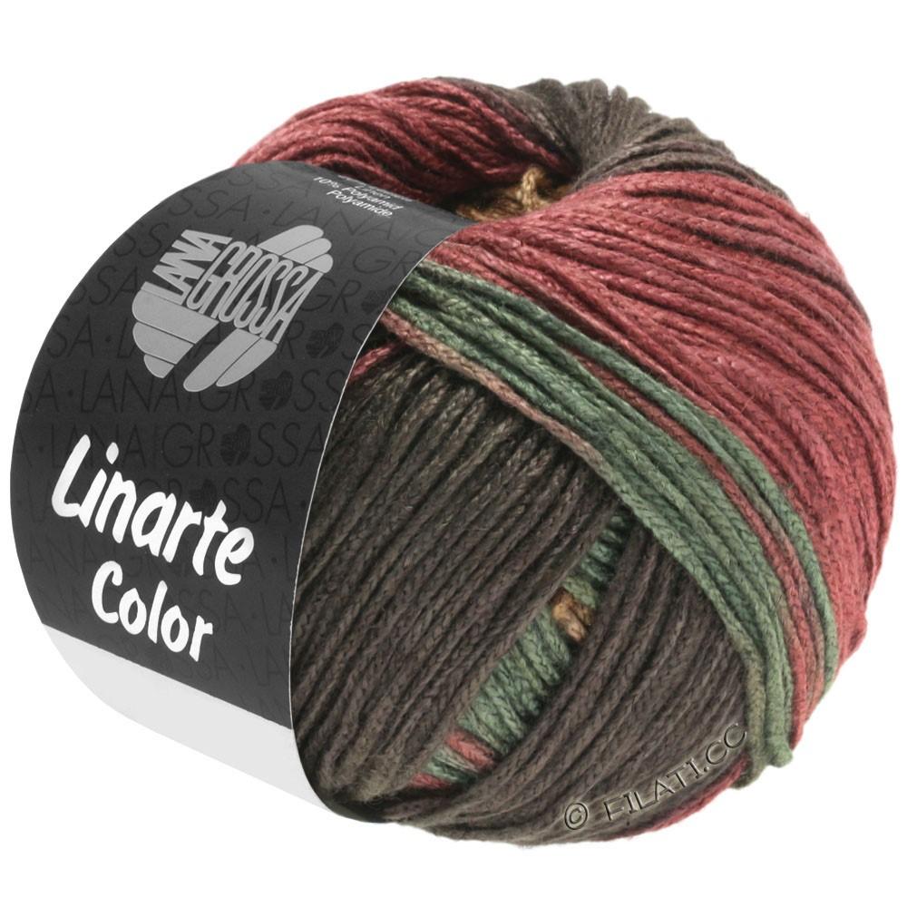 Lana Grossa LINARTE Color | 211-moka/sable/brun rouge/vert réséda