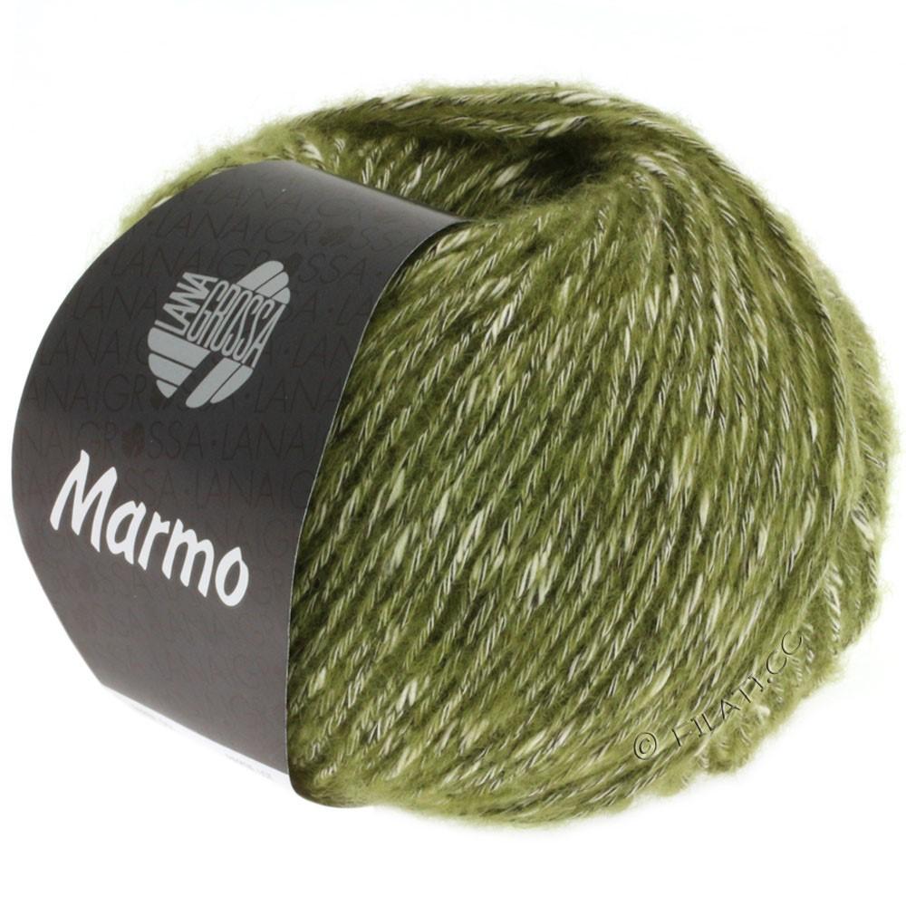 Lana Grossa MARMO   008-vert olive/écru/brun noir
