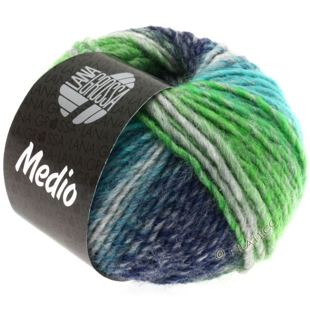 Lana Grossa MEDIO | 09-turquoise/gris/marine/vert clair