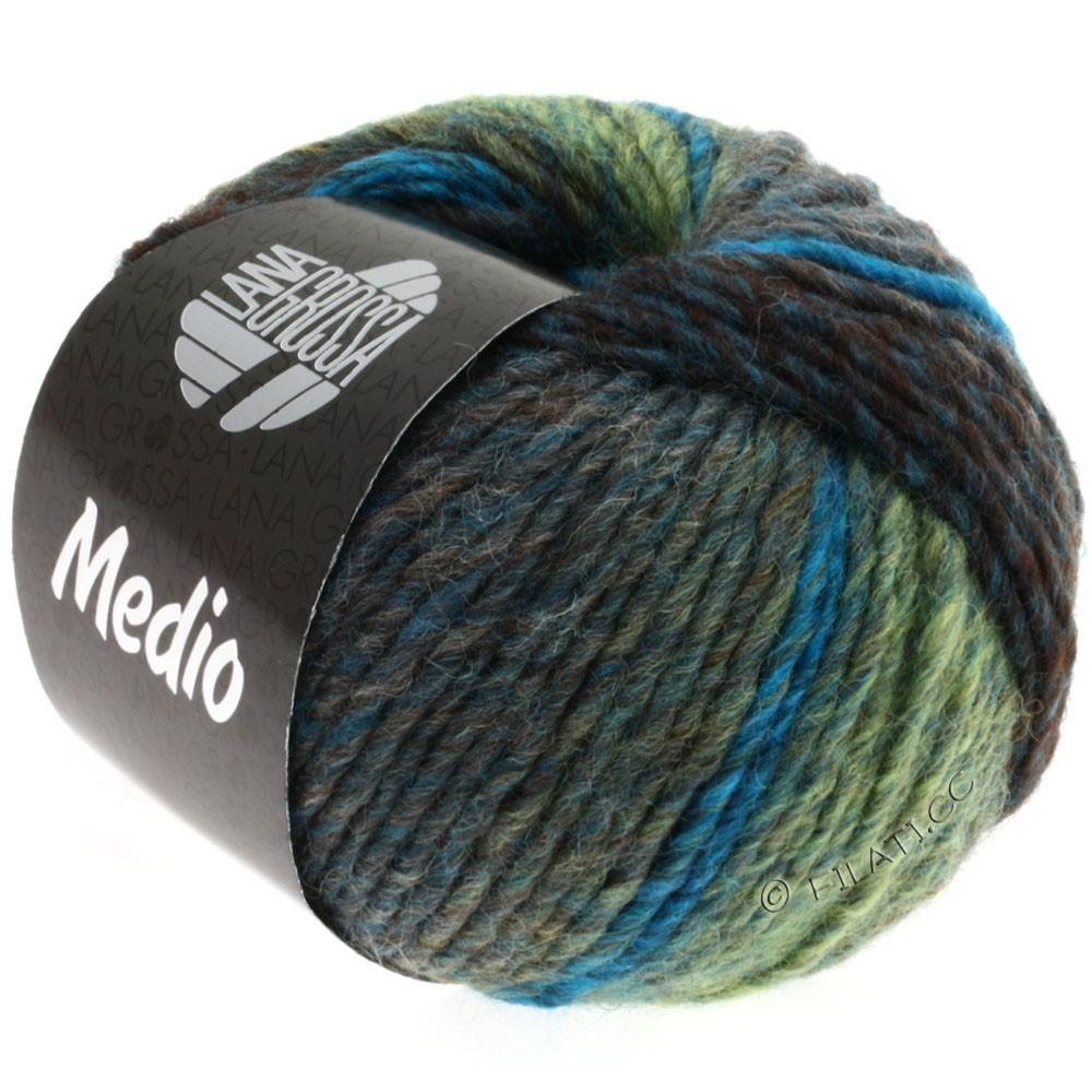 Lana Grossa MEDIO | 10-bleu pétrole/turquoise/vert tendre/gris/anthracite