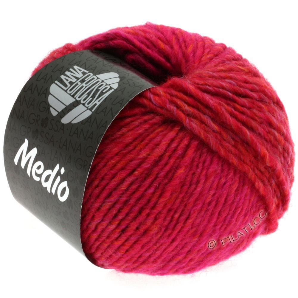 Lana Grossa MEDIO | 11-framboise/cyclamen/rouge cerise/orange/kaki/bordeaux