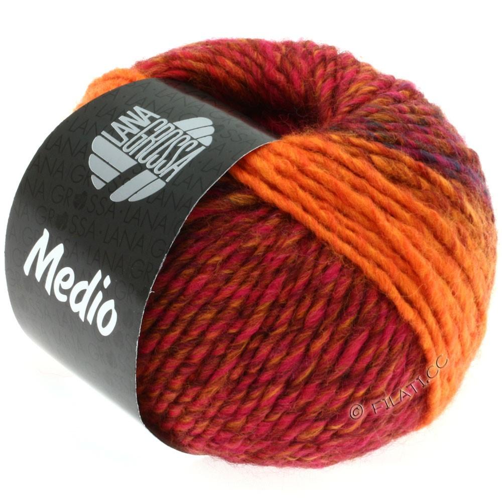Lana Grossa MEDIO | 13-rouge/bleu/rose vif/orange/brun de cannelle