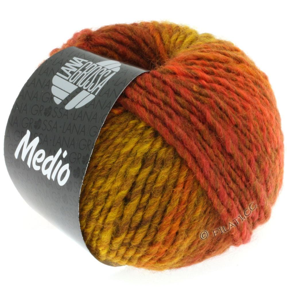 Lana Grossa MEDIO | 14-jaune maïs/brun fauve/moka/brun de cannelle/rouille