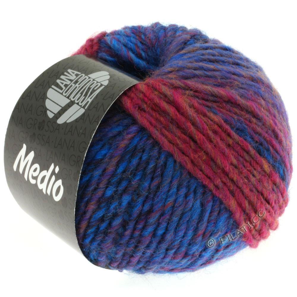 Lana Grossa MEDIO | 15-marine/bleu/rose vif/brun/gris/aubergine