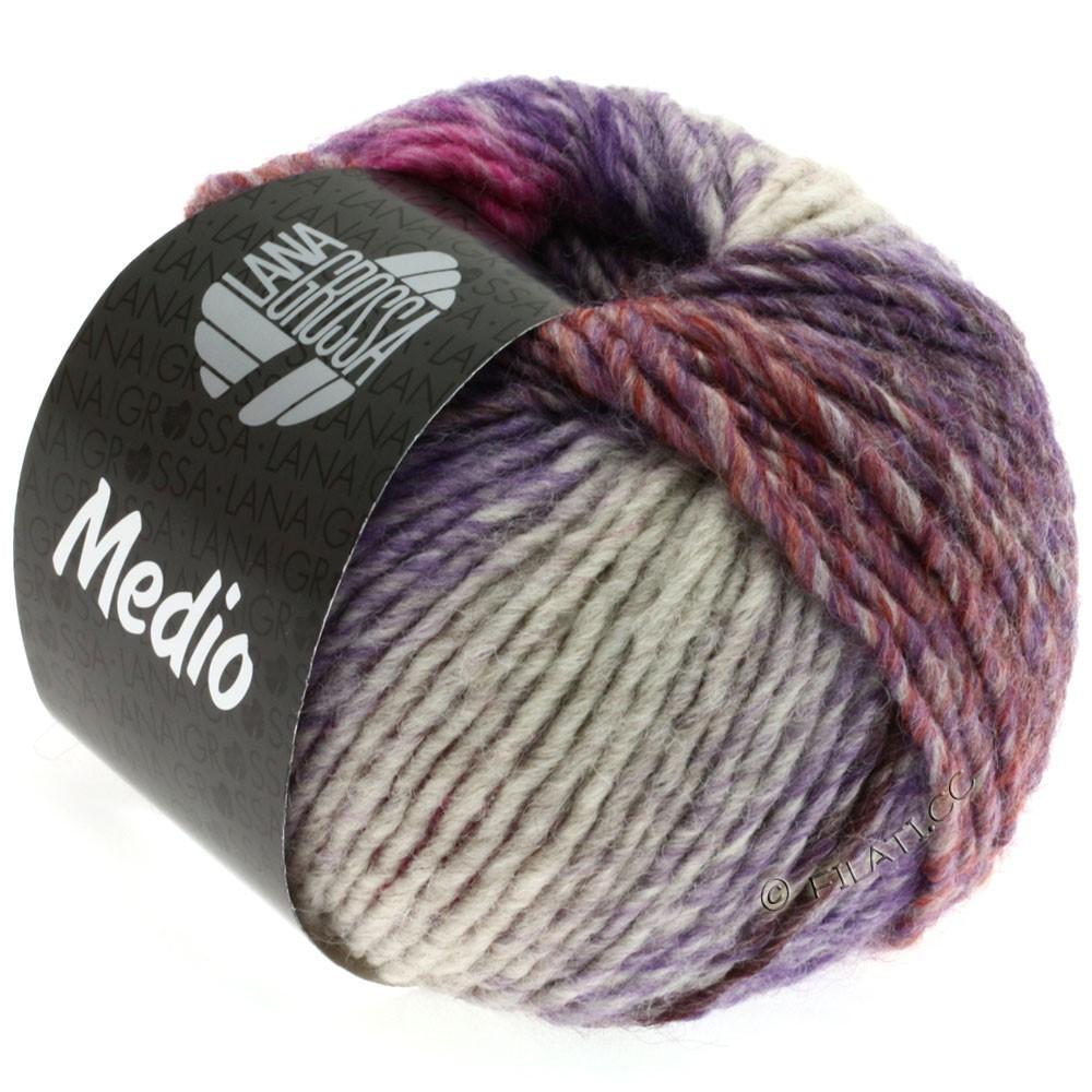 Lana Grossa MEDIO | 17-aubergine/mûre/pourpre/rose vif/bois de rose/gris/orange/nature