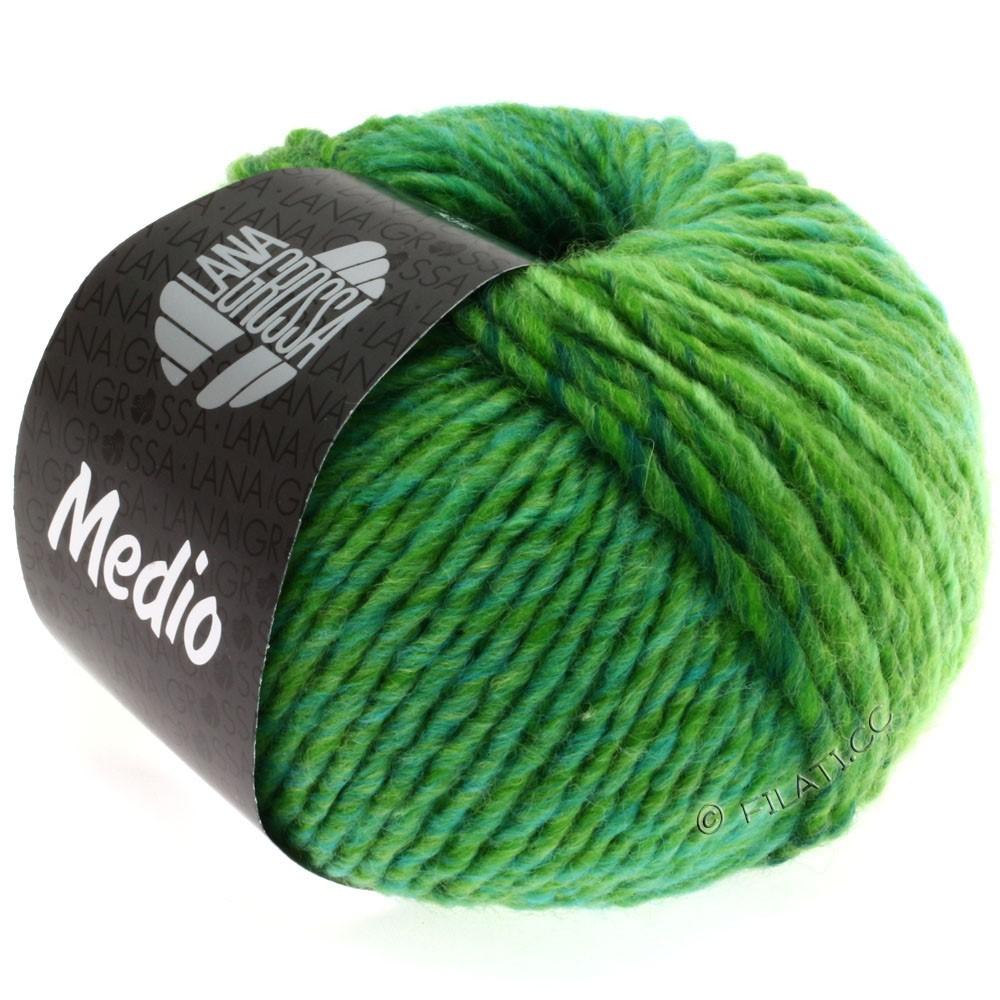 Lana Grossa MEDIO | 20-vert clair/pomme verte/vert bouteille/turquoise/jaune