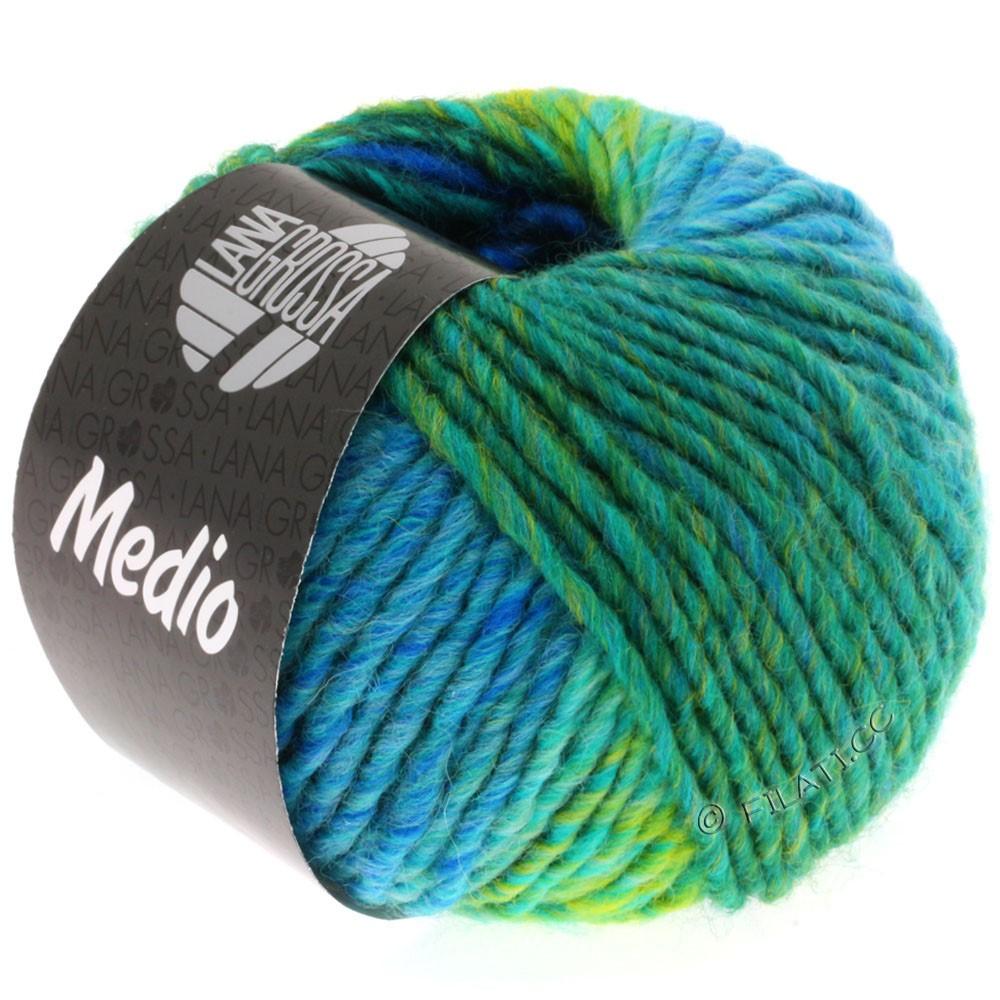 Lana Grossa MEDIO | 22-bleu nuit/royal/turquoise/pétrole/jaune