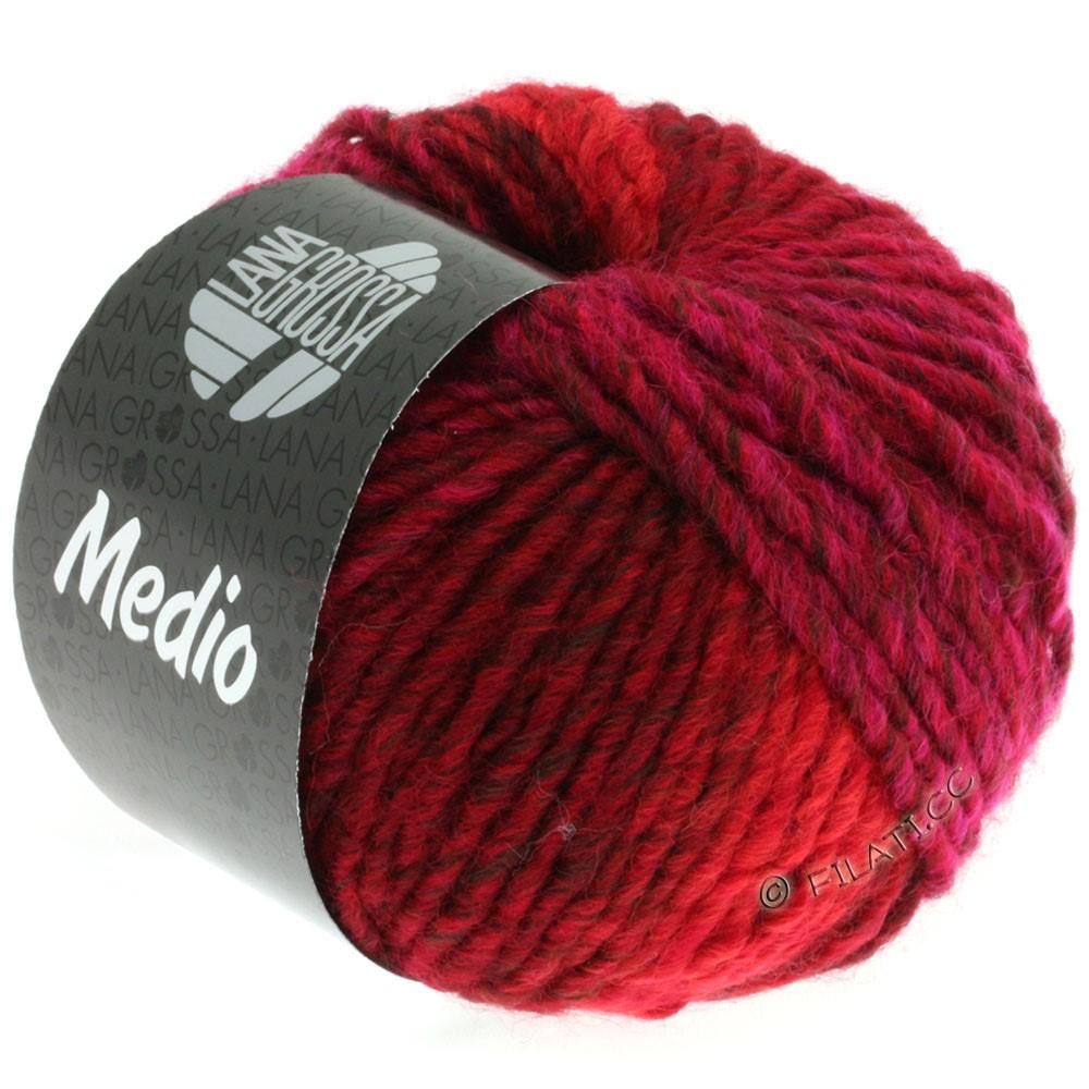 Lana Grossa MEDIO | 24-bordeaux/rose vif/cyclamen/rouge noir/violet rouge/kaki