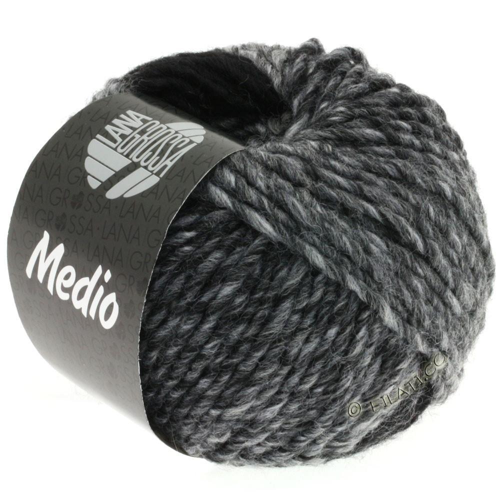 Lana Grossa MEDIO | 29-gris/graphite/blanc/anthracite/gris clair