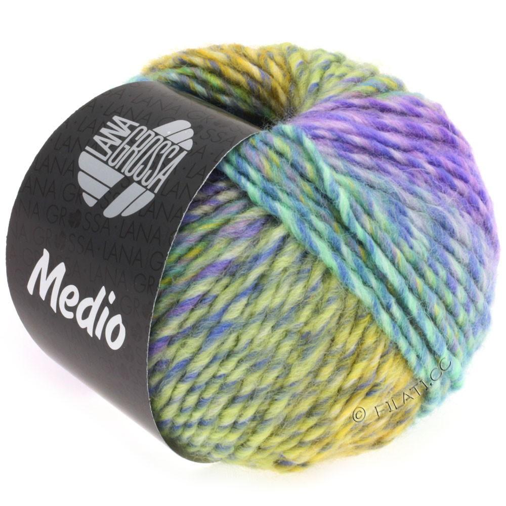 Lana Grossa MEDIO | 31-bleu/turquoise/rose/lilas/jaune/gris vert/pétrole