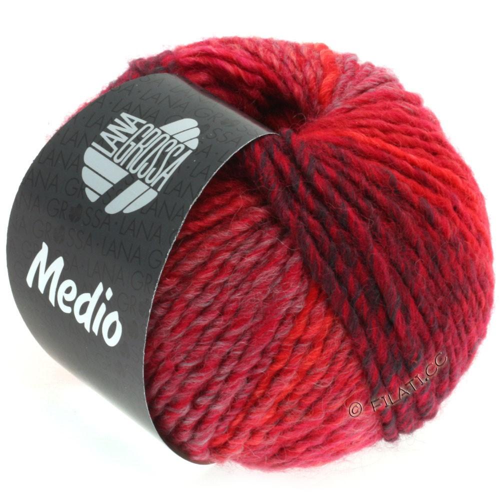 Lana Grossa MEDIO | 34-rose vif/cyclamen/rouge/bourgogne/lilas