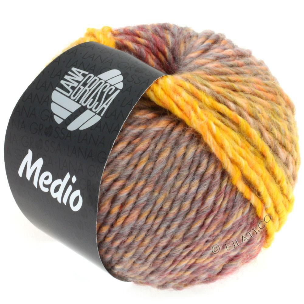 Lana Grossa MEDIO | 35-jaune/gris/rose/rouge/gris foncé/nature