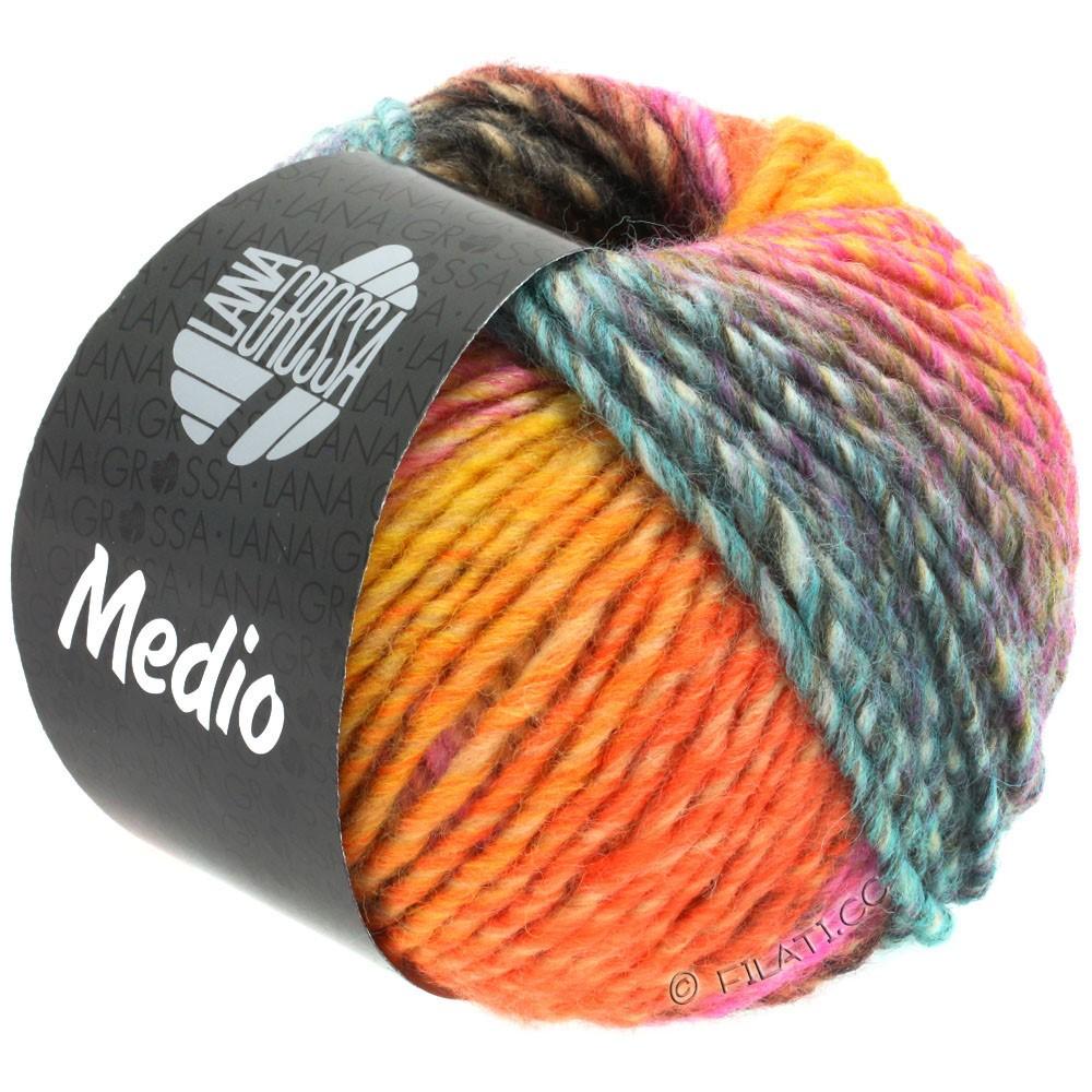 Lana Grossa MEDIO | 40-jaune ocre/rouge tomate/blanc/rose/rose vif/turquoise